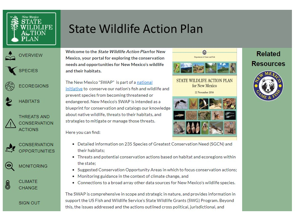 New Mexico State Wildlife Action Plan